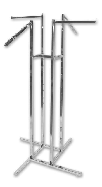 Clothing Rack - 4 Way - Sloping Arms + Straight Arms-0