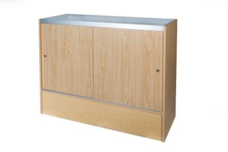 Timber & Glass Display Counter-1200mm-1353