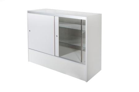 Timber & Glass Display Counter-1200mm-1349