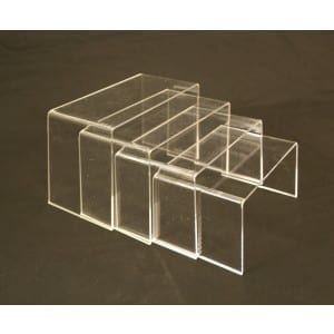 Set of 4 Acrylic Risers-0