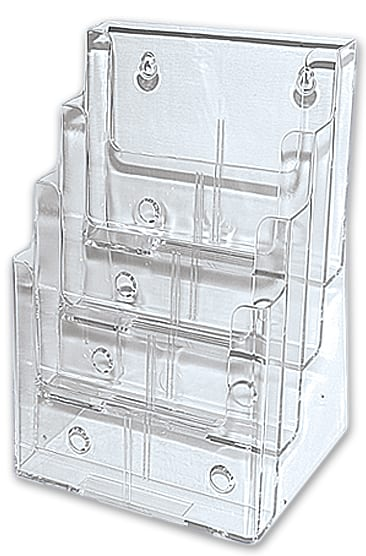 A4 Brochure Holder – 4 Tier – Full Page-0