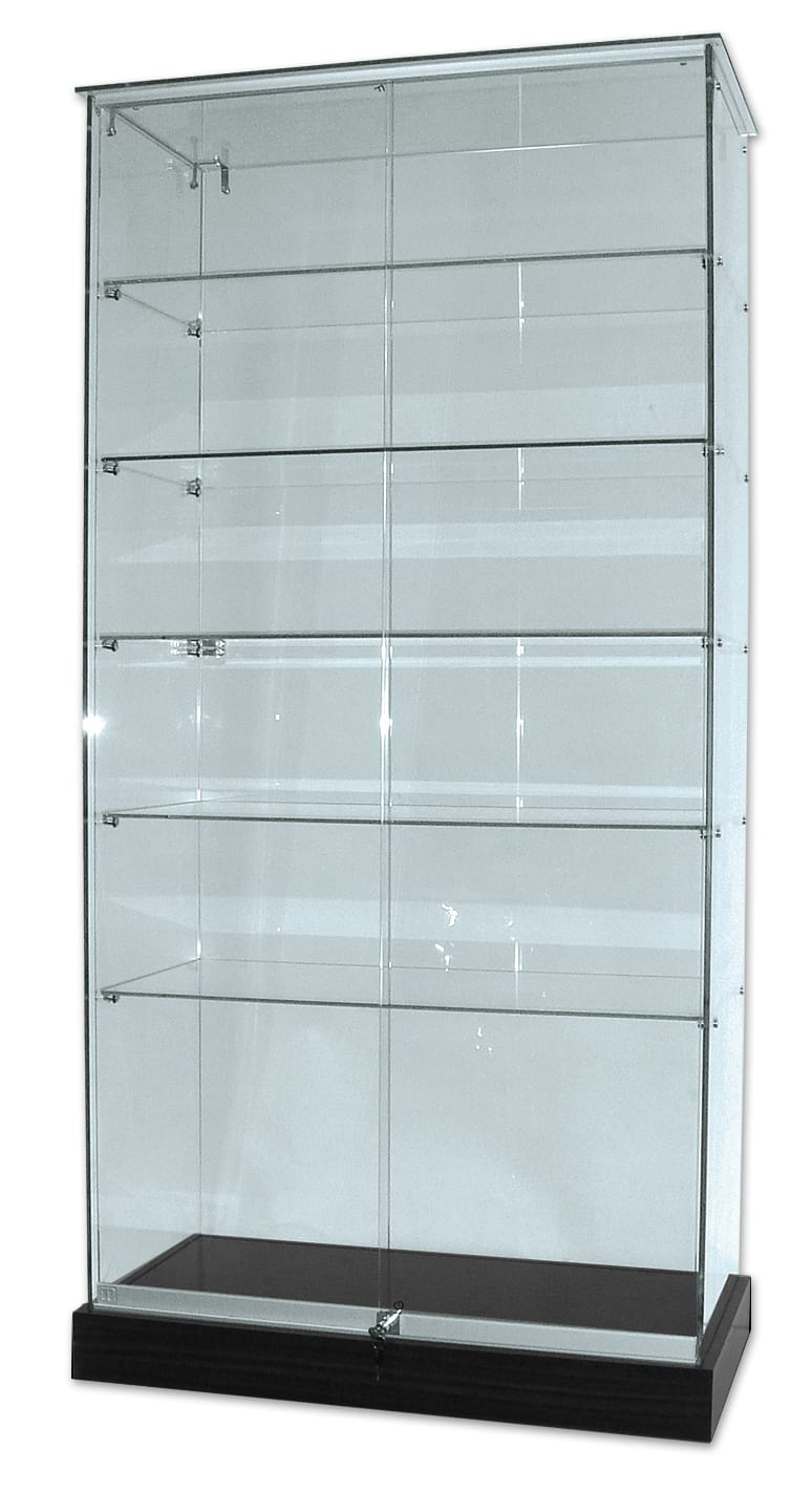 Glass Display Cabinet on Castors - Flat Packed-0