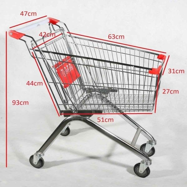 shopping trolley dimensions