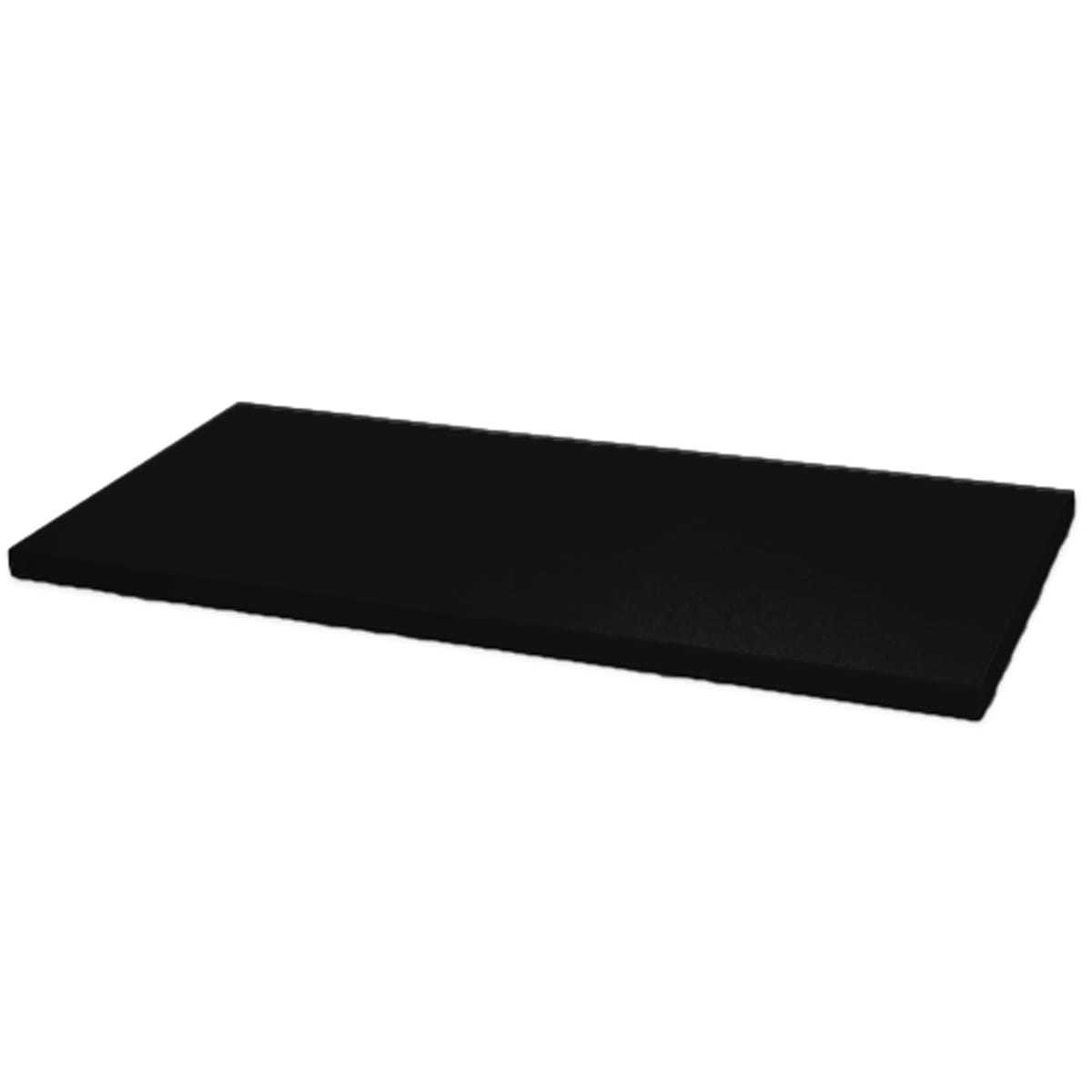 melamine shelf black