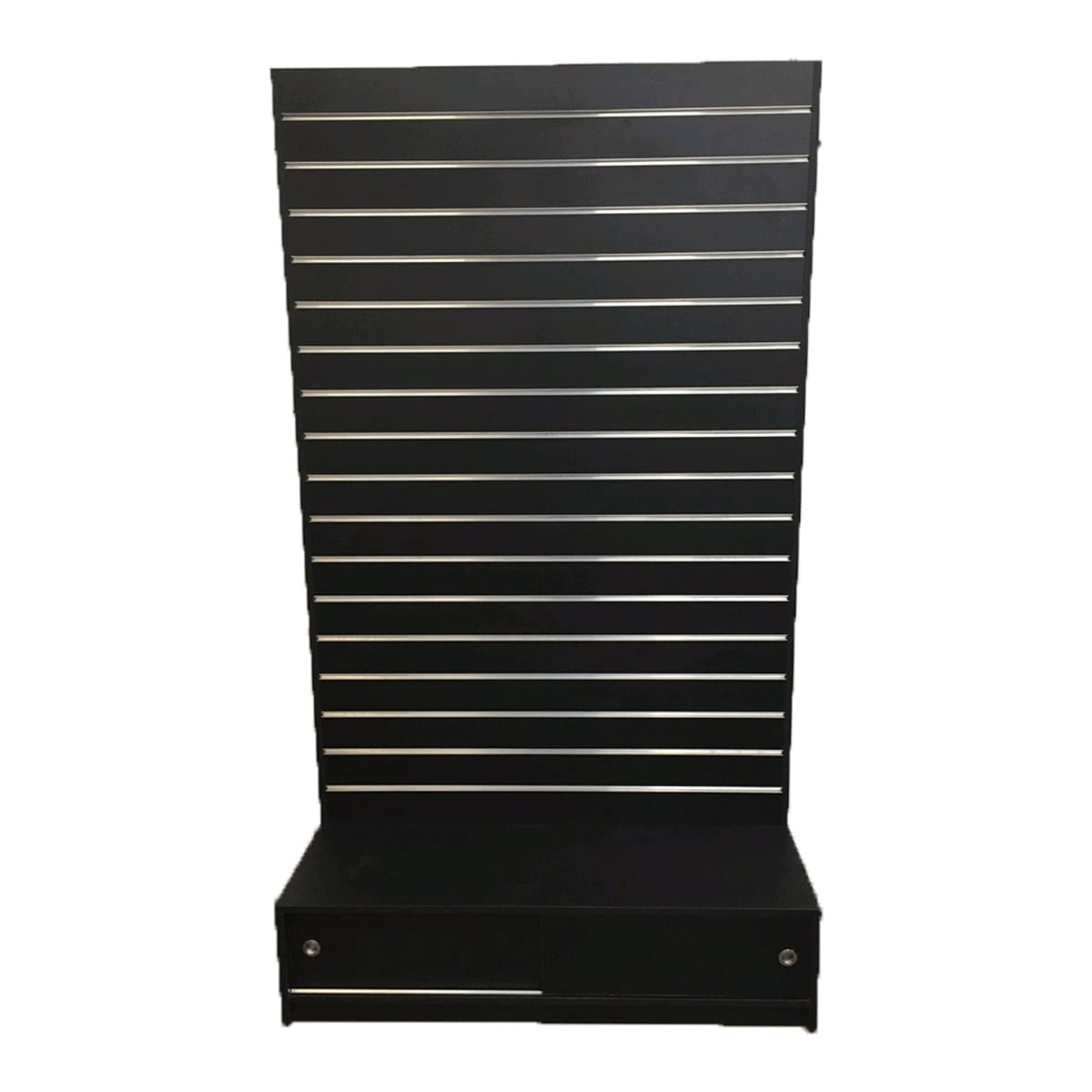 gondola slatwall black with storage