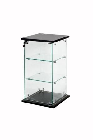 Glass Display Case with Black Base Small-0