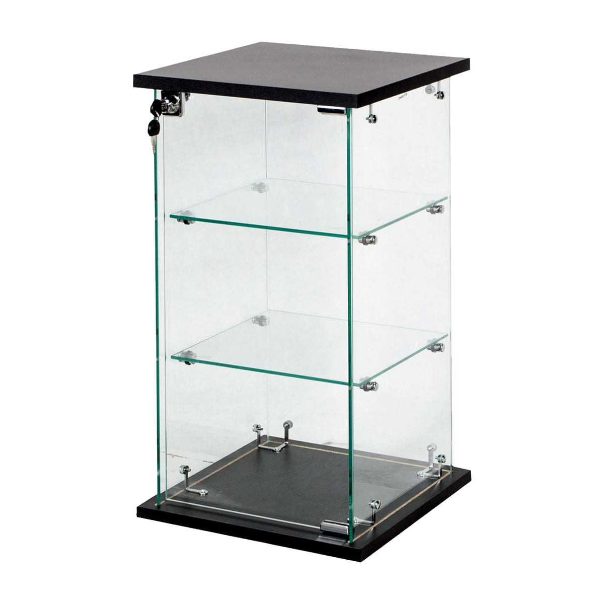 small lockable glass display case