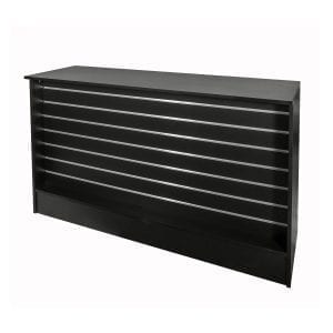 shop slatwall counter black