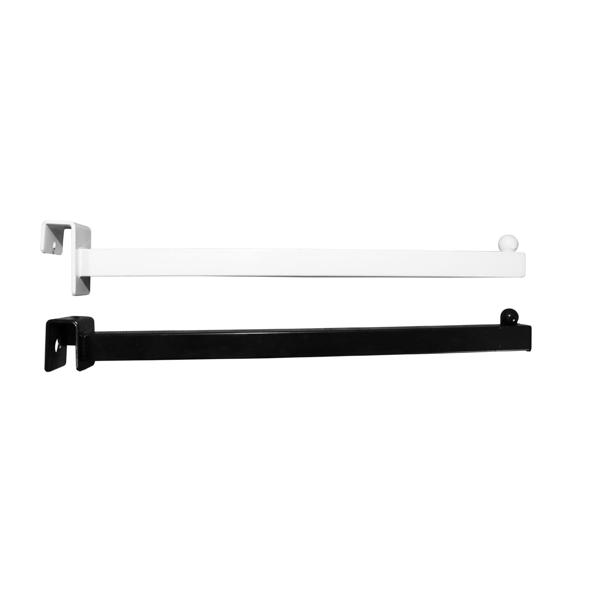 black and white straight arm fixtures