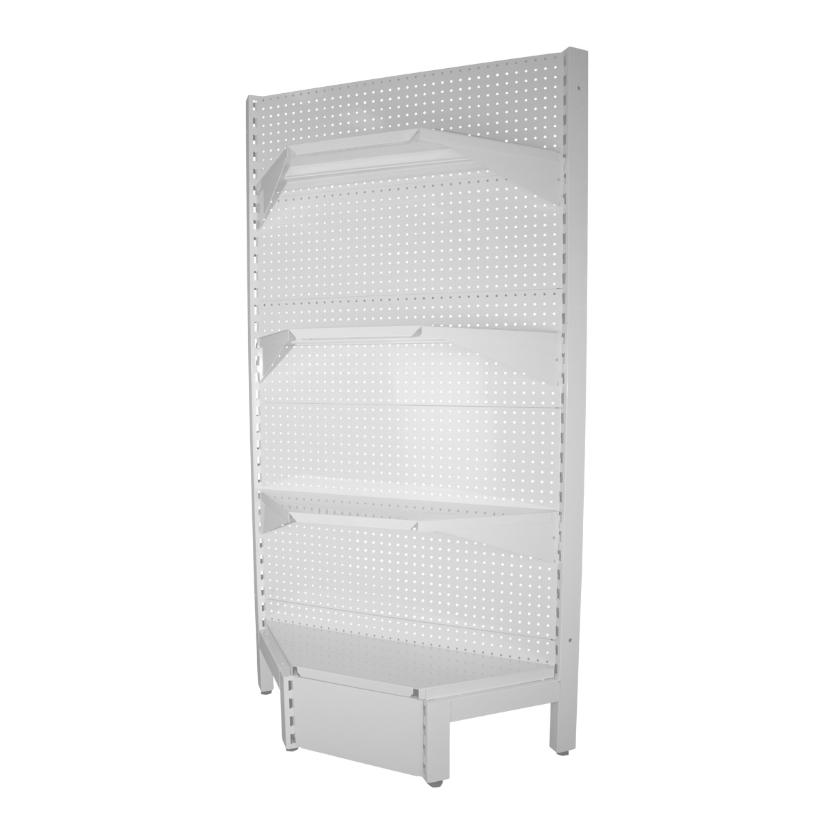 corner shelving unit white