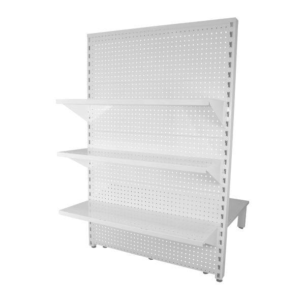 3 shelf levels feature end