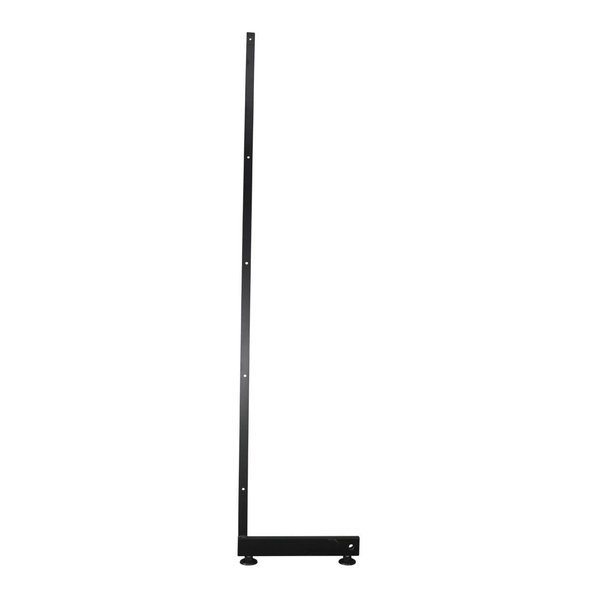 single leg for grid mesh panels black