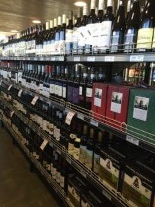 wine shelving and storage