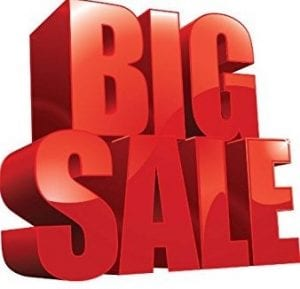 big sale in red