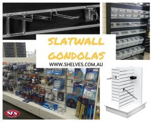 slatwall gondola for storage