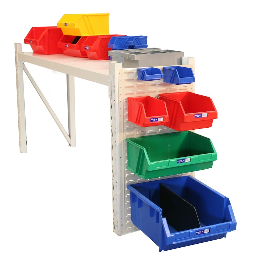 plastic bins for garage organising