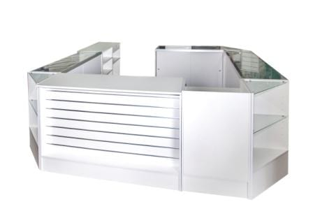 white counter large for shops