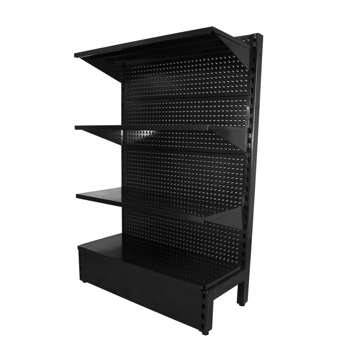 volcano panel shelving black single sided