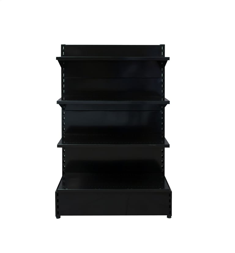 black shelving for shops