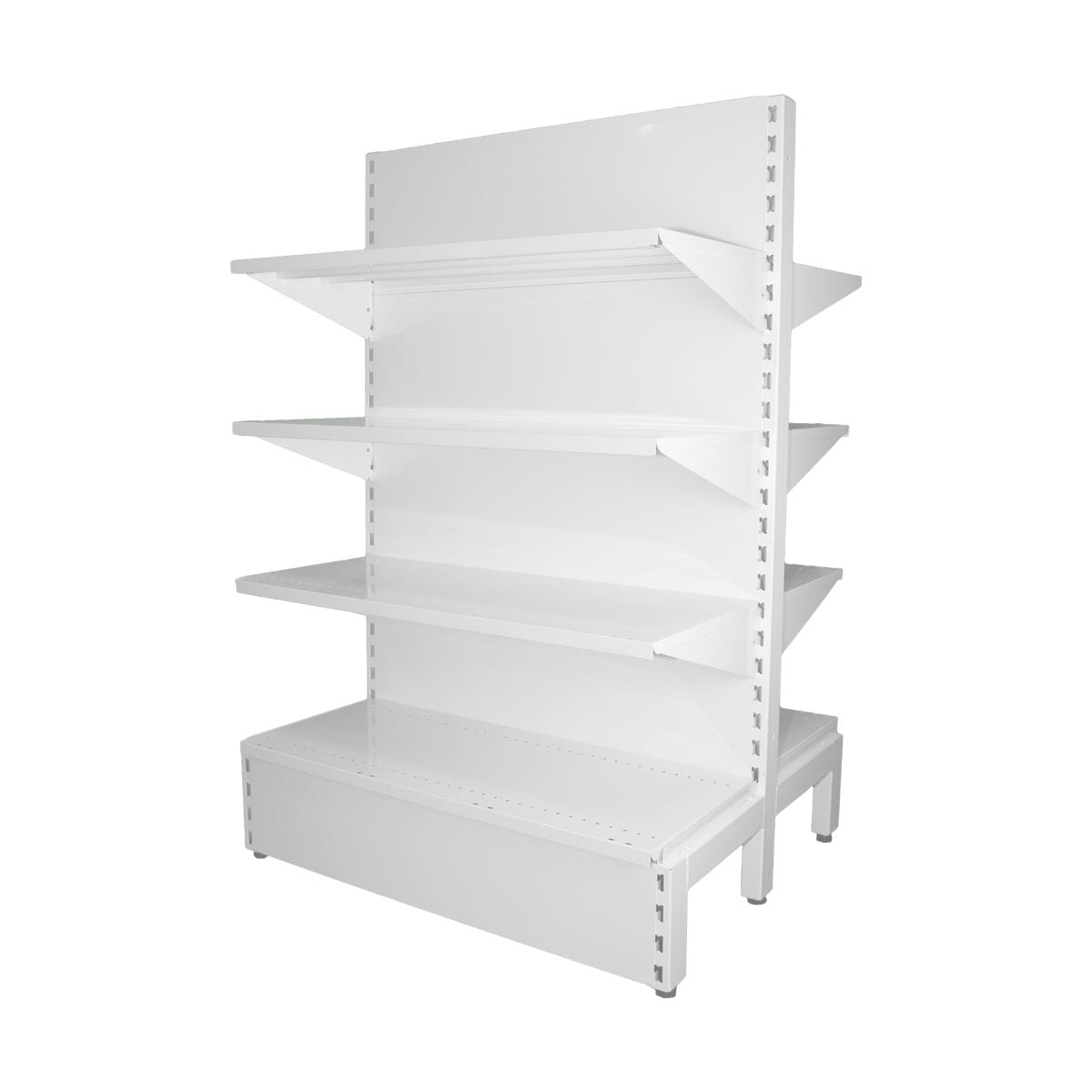 gondola shelving white plain panel