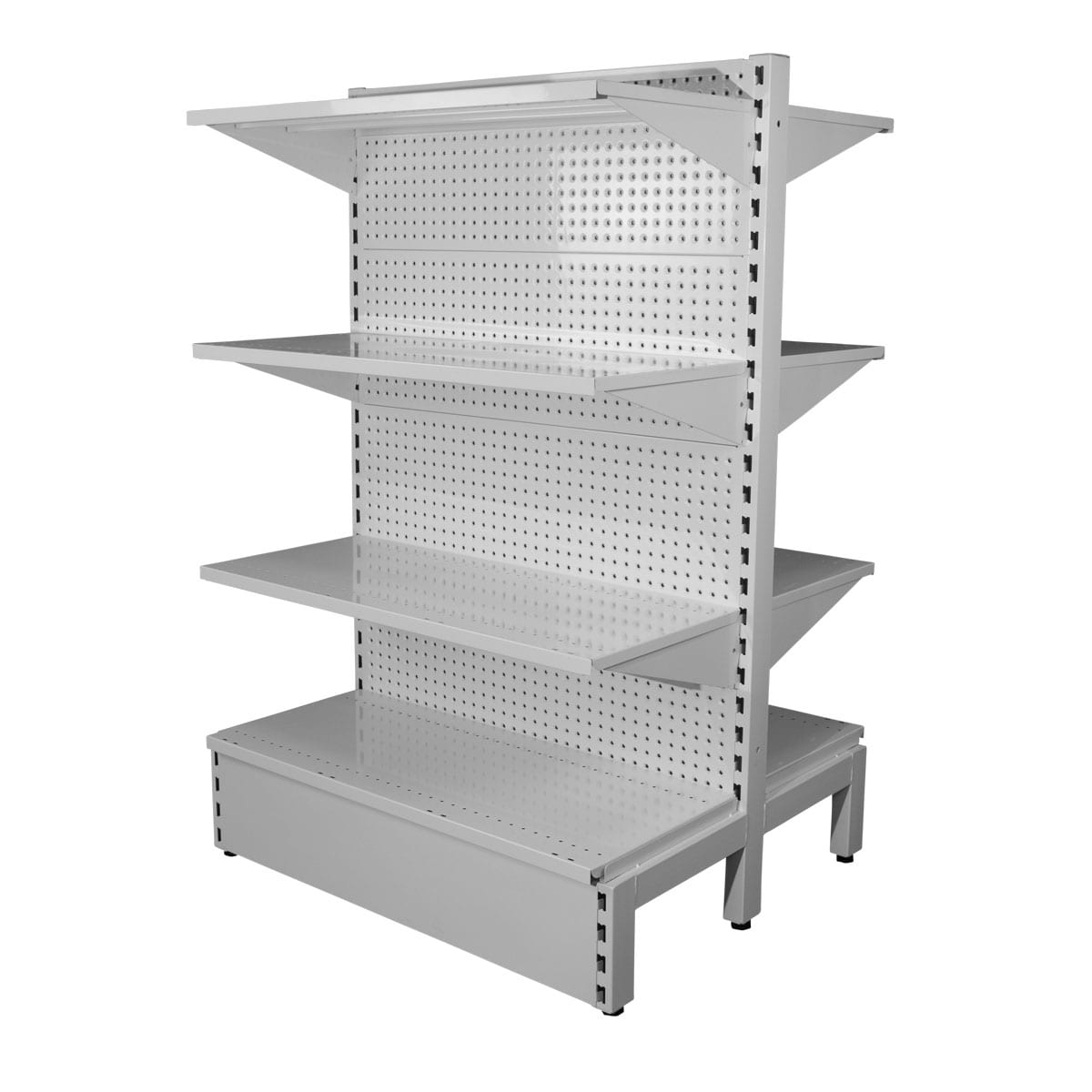 white heavy duty shelving