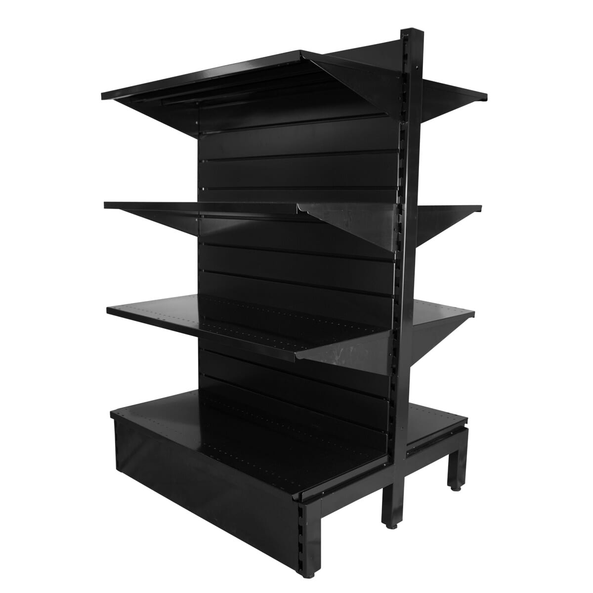 double sided metal slatwall shelving