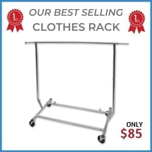clothing rack for retail garments