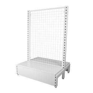 mesh back system shelves for shops
