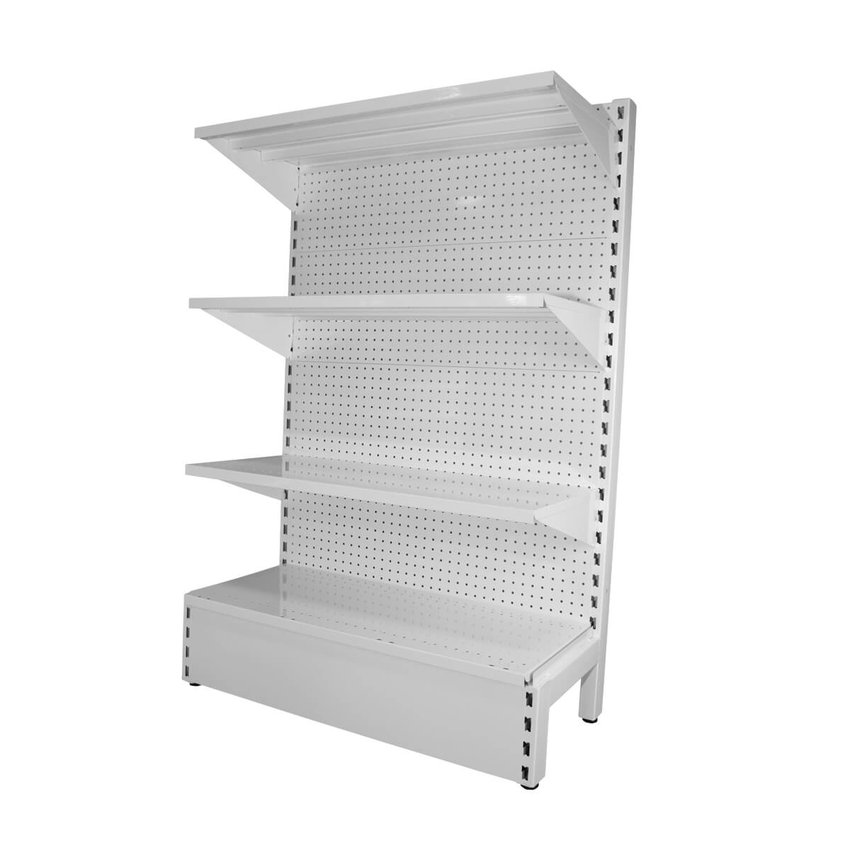 metal pegboard shelving white