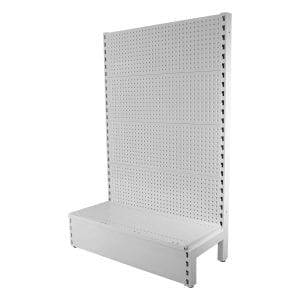 gondola shelving white