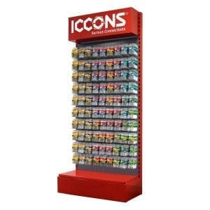custom display stands with corporate colours and branding