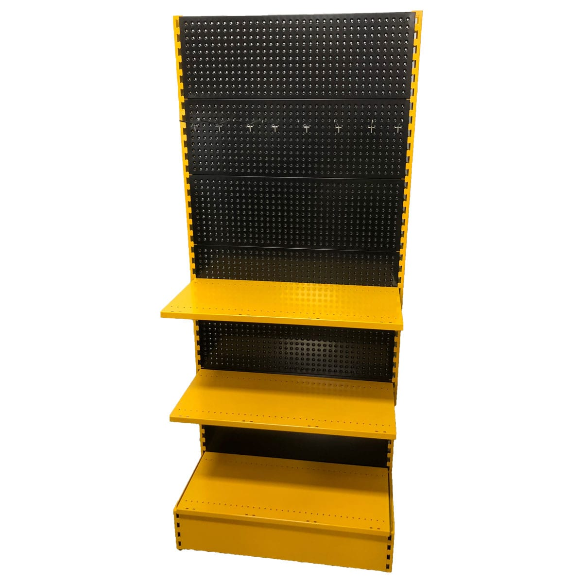 gondola shelving with custom colours