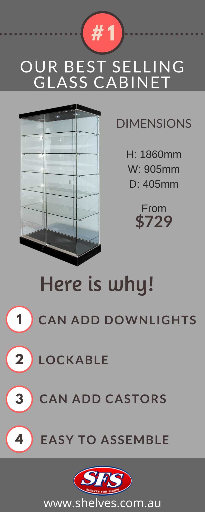 best selling glass cabinets