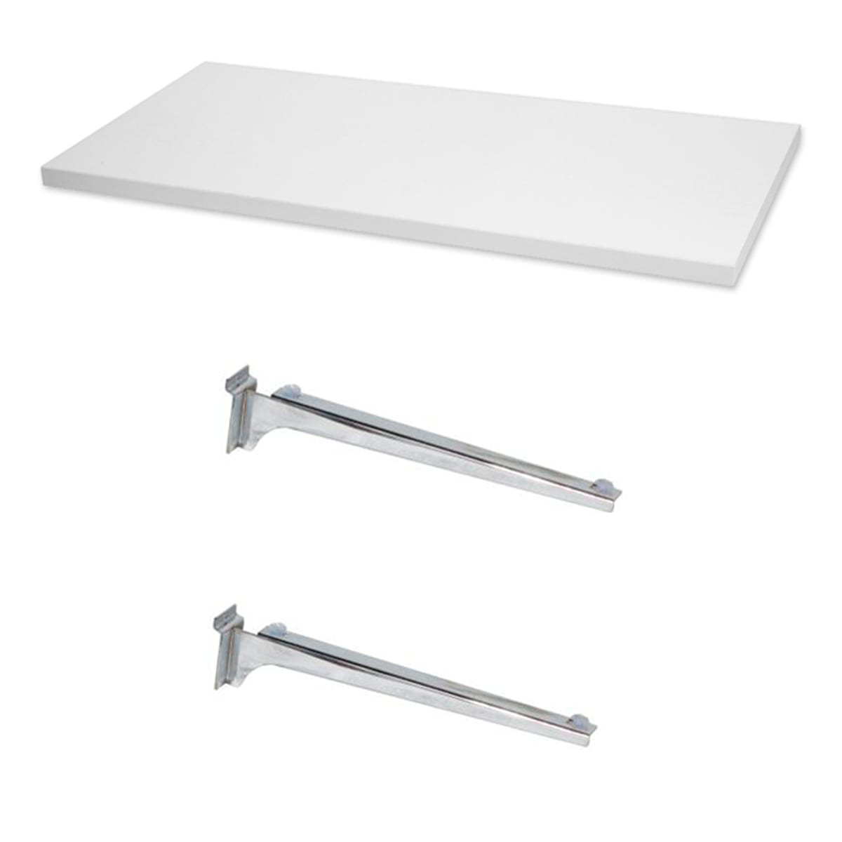 melamine shelf with bracket set