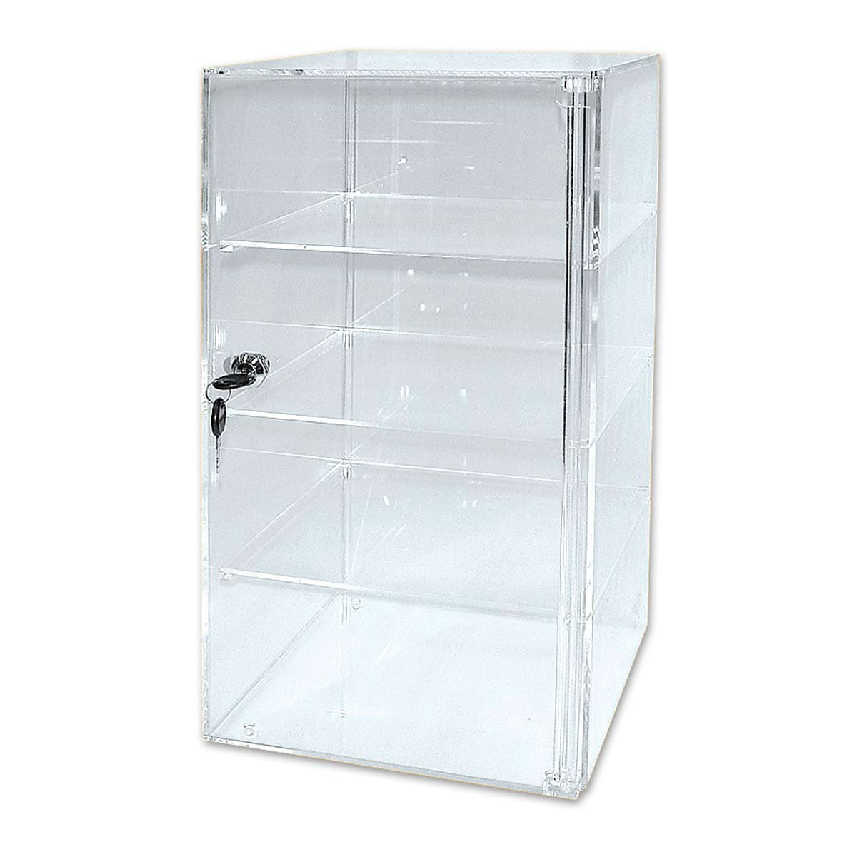 perspex display case with lock