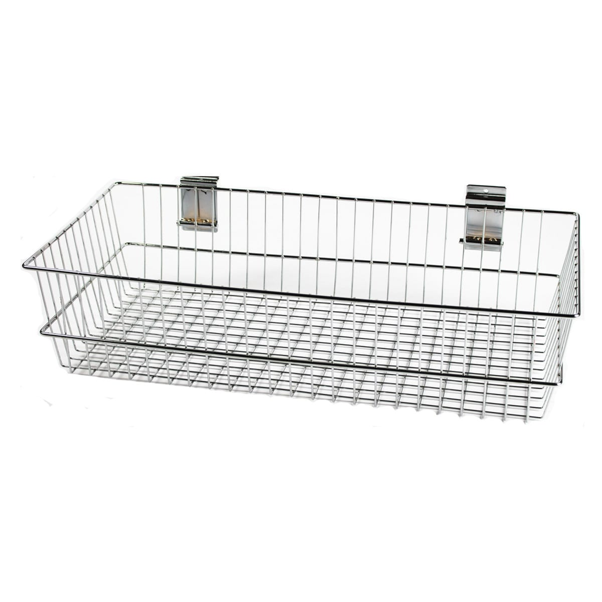 slatwall basket for retail slat panel