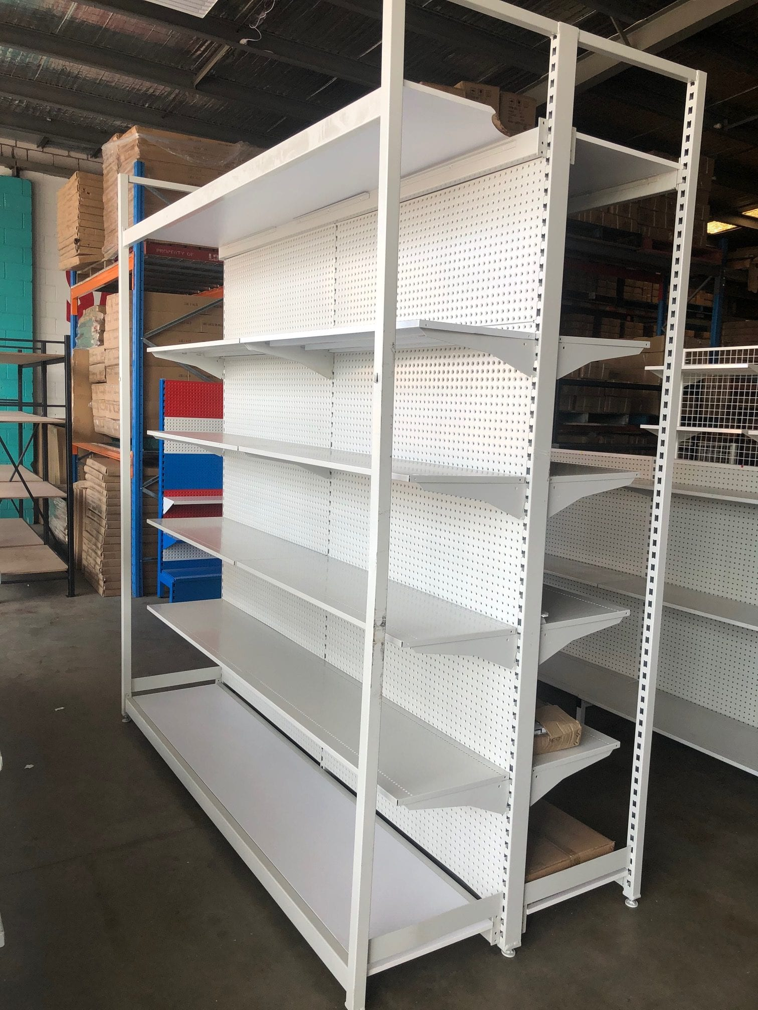 outrigger used shelving