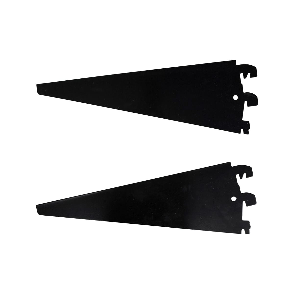 black shelving brackets