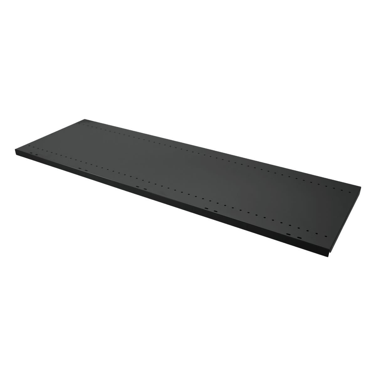 black shelf for gondola shelving