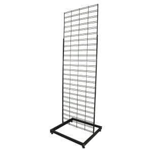 grid mesh display stand