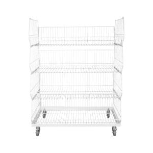 stackable wire basket display stand