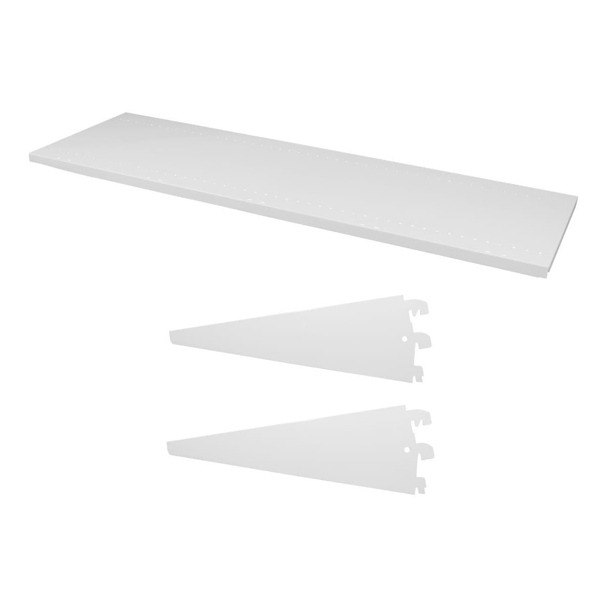 shelf with brackets white