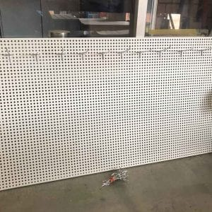 used pegboard sheet
